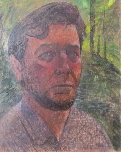 Self-portrait  in Gray Shirt
