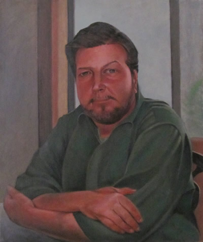 Self-portrait in a Green Shirt
